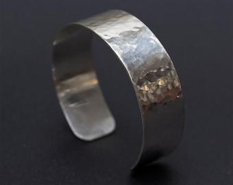 Hammered Sterling Silver Cuff Bracelet, Man Silver Bracelet, Hammered Silver Bracelet, Man Cuff Bracelet, Woman Cuff Bracelet, Silver Bangle