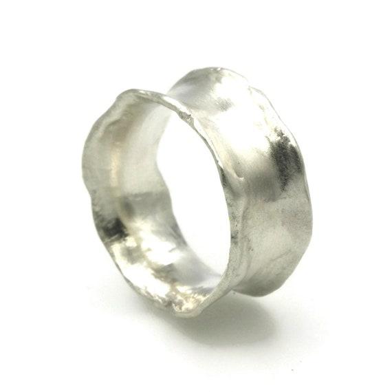 Organic Ring Sterling Silver Ring Rustic Ring Boho Ring  b132ac29f