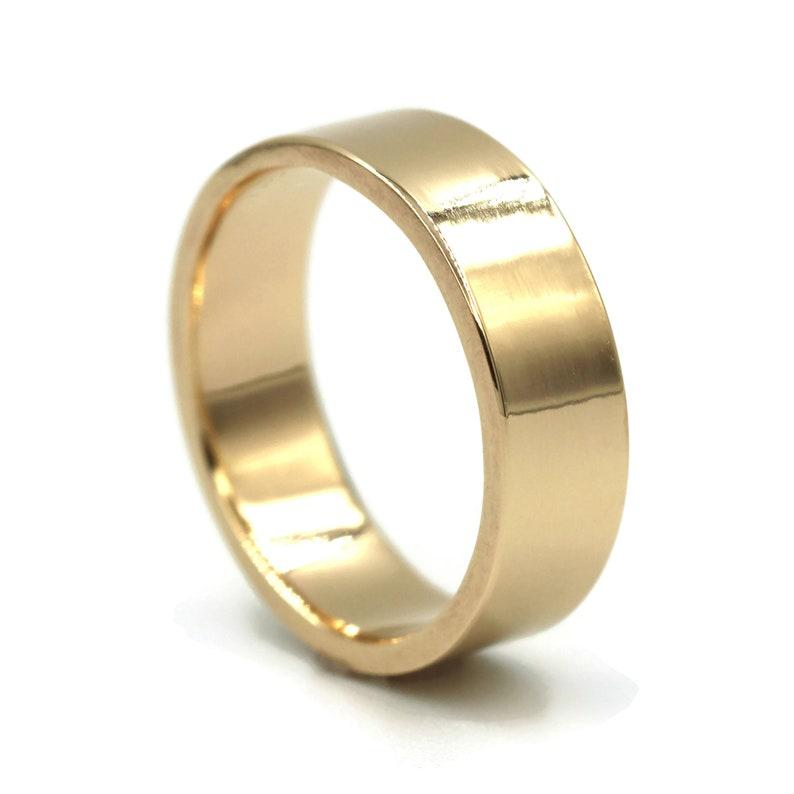 Wedding Rings For Men.Mens Wedding Ring 6mm 14k Gold Band 6mm Men S Gold Wedding Ring Wedding Ring Men Wedding Rings Classic Style Wedding Band 14k Gold