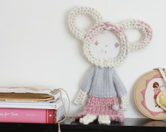 Vintage Inspired Hand Made Bear Wall Hanging No.7 Alice