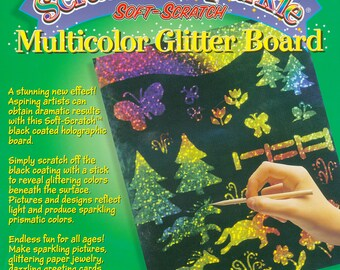Scratch & Sparkle Soft-Scratch Multi-color Holographic Glitter Board 10 sheets fnt