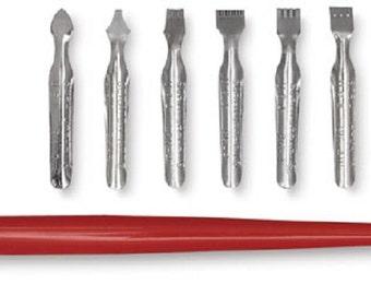 Scratch Art Scratch Tool Set - 1 Penholder and 7 Knife Points 8117 fnt