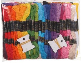 100 pk 8 Meters each Cotton Craft - Embroidery Thread with 12 Bobbins - 1170-93 fnt