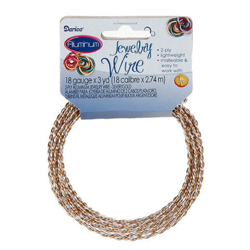 2 Color Twisted 2 Ply Aluminum Wire 18 Gauge 2 Color Choices Jewelry Making 1999-68-71 fnt 3 yds