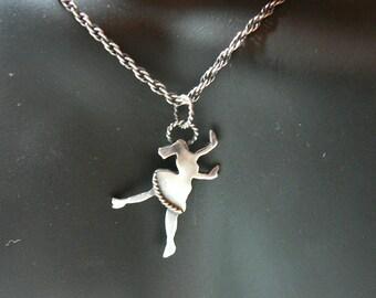Tiny Jive Dancer Sterling Silver Pendant