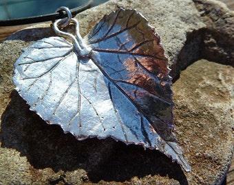 Fine Silver Wild Geranium Pendant