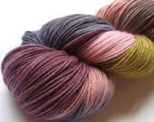 Titania - hand dyed superwash merino sock yarn