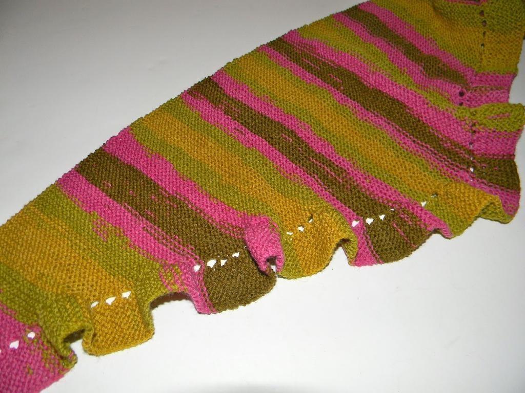 Pattern Knitted Baktus Scarf Etsy