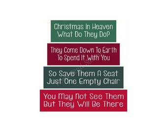 Christmas In Heaven Poem With Chair Printable.Heaven Stencils Etsy