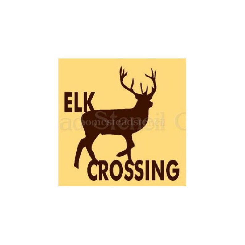 Stencil 5085 I 10x10 Elk Crossing Painting Etsy
