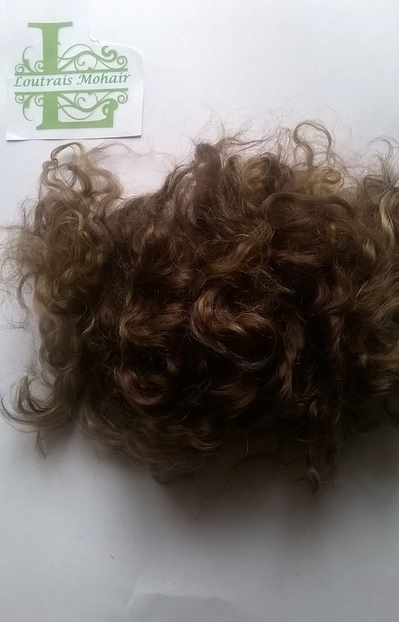MOHAIR REBORN BLYTHE DOLL GINGERNUT NATURAL CURLS 10GRAMS