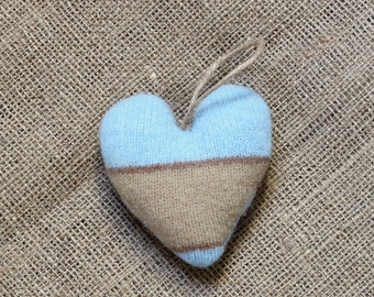 Blue and Camel Valentine's Heart Ornament, Heart Valentine Ornaments, Valentine Heart, Valentine Decorations, Valentine's Day Decorations