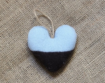 Blue and Brown Valentine's Heart Ornament, Heart Valentine Ornaments, Valentine Heart, Valentine Decorations, Valentine's Day Decorations