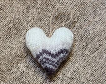 Cream and Brown Valentine's Heart Ornament, Heart Valentine Ornaments, Valentine Heart, Valentine Decorations, Valentine's Day Decorations