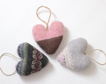 Valentine Heart Ornament Set, Valentine Ornaments, Valentine Ornament, Heart Ornaments, Valentine Decorations, Valentine's Day Decorations
