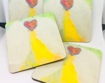 Guardian Angel Wing Coasters set of 4