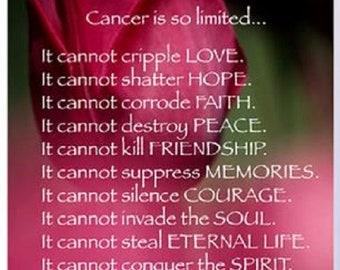 Cancer Poem Etsy