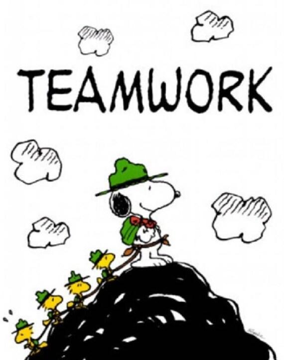 Wandern: PEANUTS SNOOPY Teamwork auf einen 16 Platz | Etsy