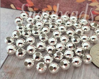 925 Sterling Silver Round Coin Beads Greek Disc Spacer for Bracelet