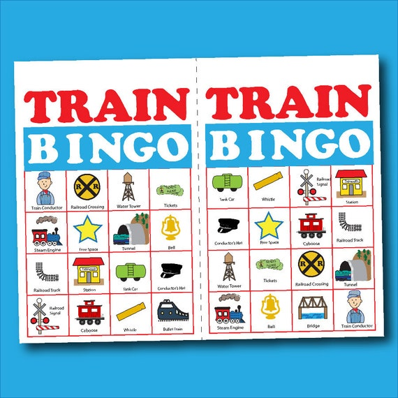 picture regarding Printable Board Games Pdf called Educate Bingo Board Sport Suitable For Birthday Social gathering Electronic Printable PDF  Preschool Clroom Online games Memory or Matching Video game