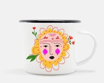 Carita de Flor .06 enamel camp mug