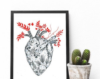 Illustrated hearts