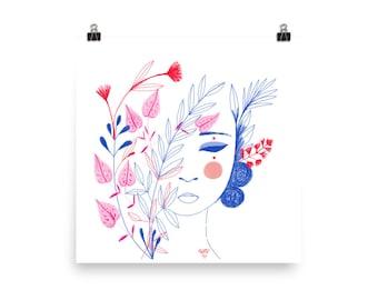 Flores para la tristeza .10 Art print