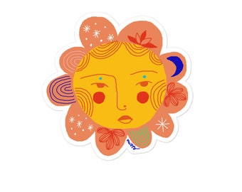 Carita de flor 04 Bubble-free stickers