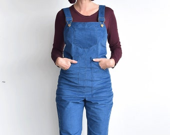 Spring Corduroy Cotton Overalls, blue Corduroy Overalls, work overalls, cotton overalls, Jumpsuit, vintage jumpsuit, Cotton Overalls