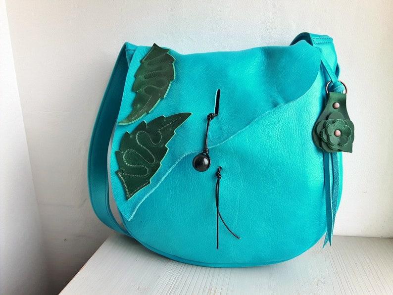 POD Large Fairytale Satchel Bag mermaid Fairytale Collection Neverland #3819 aqua shimmer