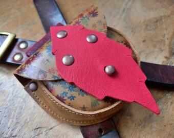 ACORN Pouch #4328, Leather belt bag, bush craft / dog walkers. Handmade in England.