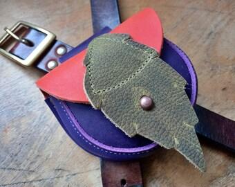 ACORN Pouch #4326, Leather belt bag, bush craft / dog walkers. Handmade in England.