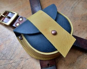 ACORN Pouch #4327, Leather belt bag, bush craft / dog walkers. Handmade in England.