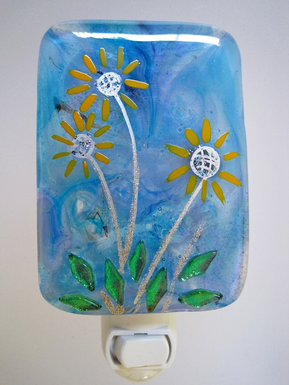 One-of-a-Kind Fused Glass Night Light by Dana Boyko