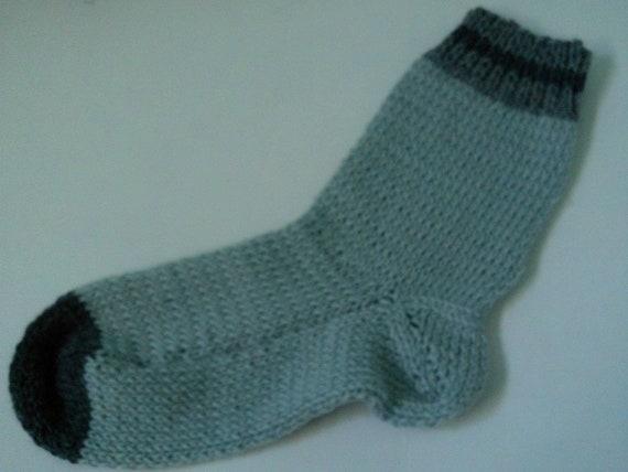 Hand Knit Alpaca Wool Socks Women,s Medium 7-9 Blue Skies FREE Shipping Offer