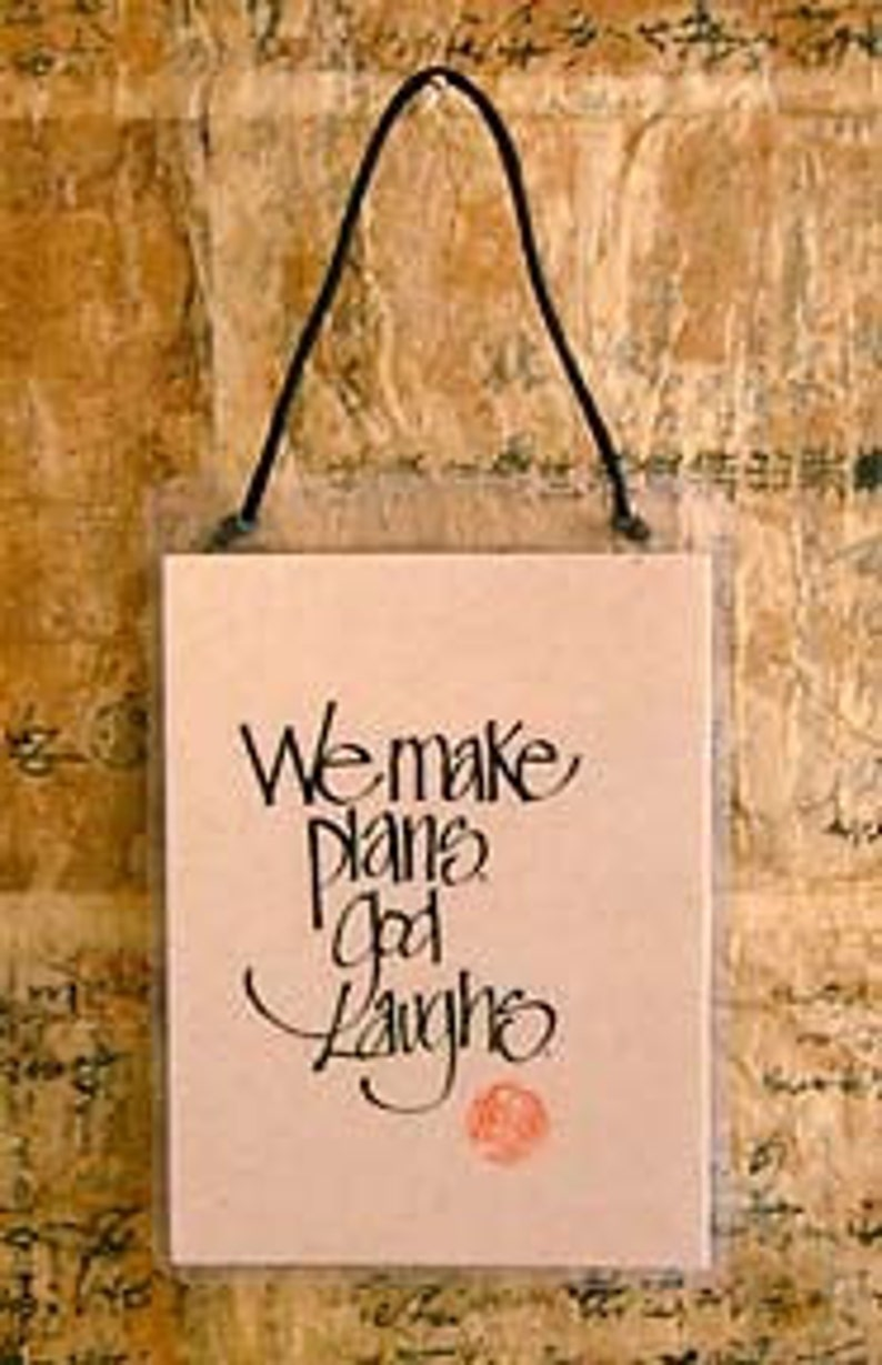 We Make Plans God Laughs Etsy
