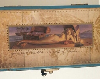 Mermaids Read, Too Upcycled Treasure or Gift Box