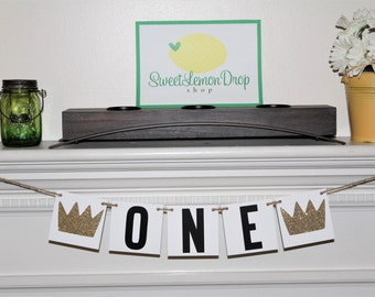 Wild One Decor Highchair Banner