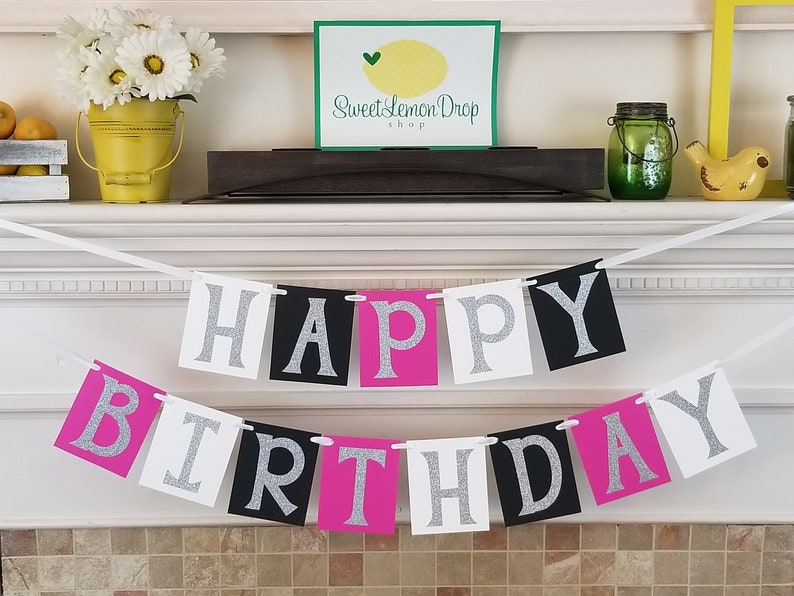 Birthday Banner Girl Happy Decorations Decor