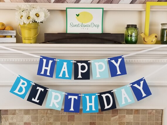 Birthday Banner Boy Blue