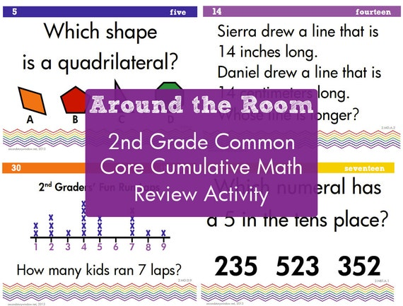 Cumulative Common Core Math Review For 2nd Grade Etsy