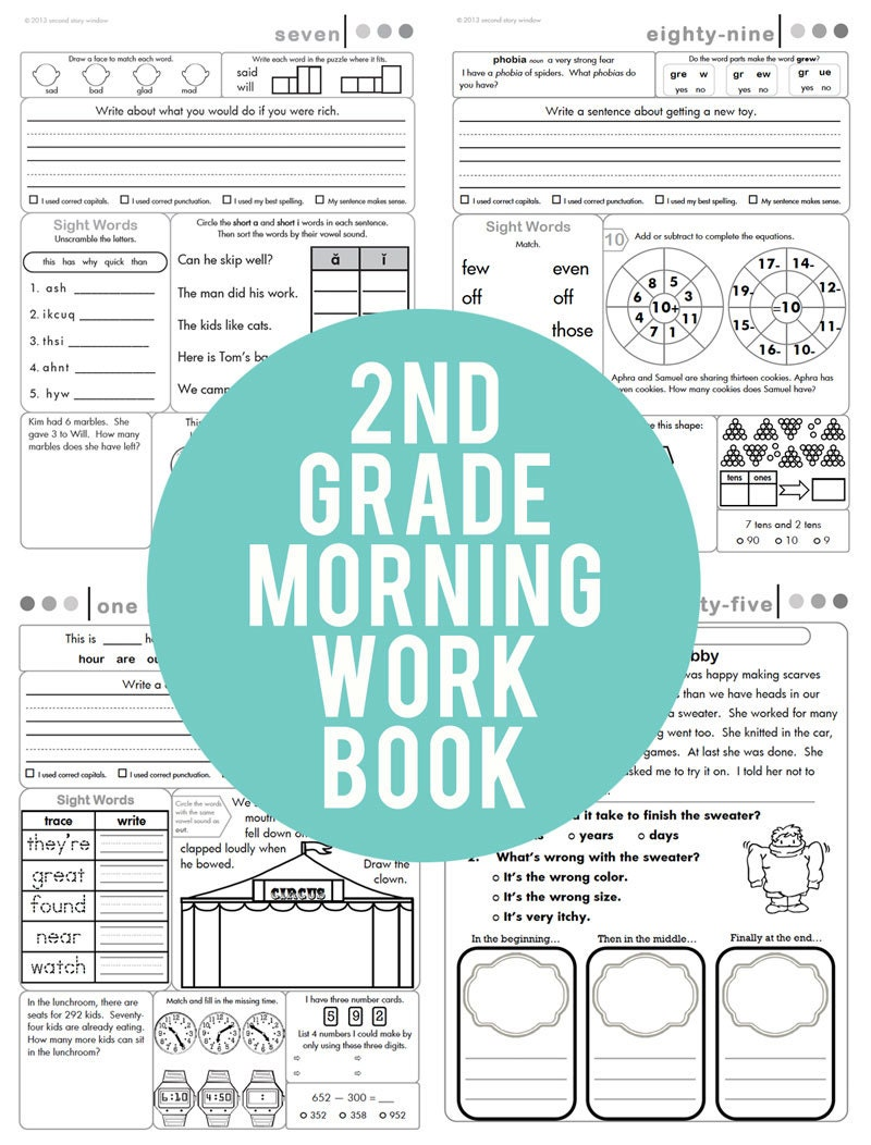 2nd Grade Common Core Morning Work Book | Etsy