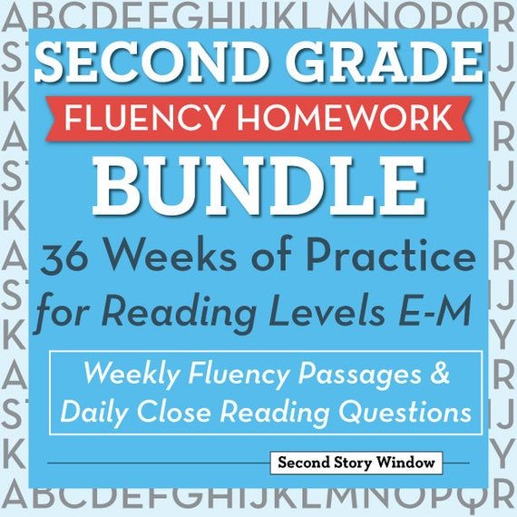 2nd Grade Printable Fluency And Reading Comprehension Passages Etsy