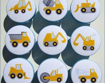 Construction Knobs • Dresser Drawer Knobs • Drawer Pulls • Tractor • Dump Truck • Cement Truck Knobs • Wood Knobs