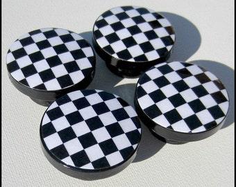 Black White Checked Knobs • Dresser Knobs • Drawer Knobs • Black and White Checkers • Drawer Pulls