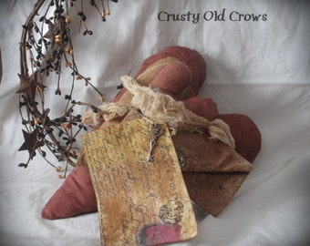 Primitive Stacking Heart Pillows/Made to Order
