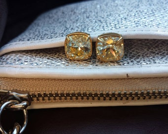 Swarovski Crystal, So Studly, 925 Sterling Post, Gold or Silver plated Post Earrings