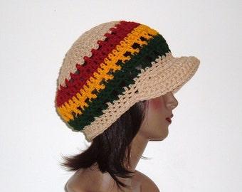 Makeeda's Unisex Crown Tam Rasta Hat in Tan Rasta
