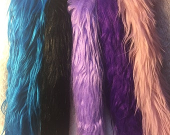 Faux Fur Tail 12in. Stuffed Clip on
