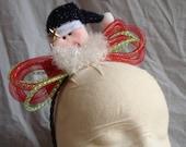 Ugly Christmas Headband Tacky Santa Headband Hair Ugly Party Accessories Tacky Christmas Free Shipping Hair Band Xmas Tinsel Bow Headband